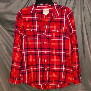 Old Navy Women's Plaid Buttoned Down Shirt